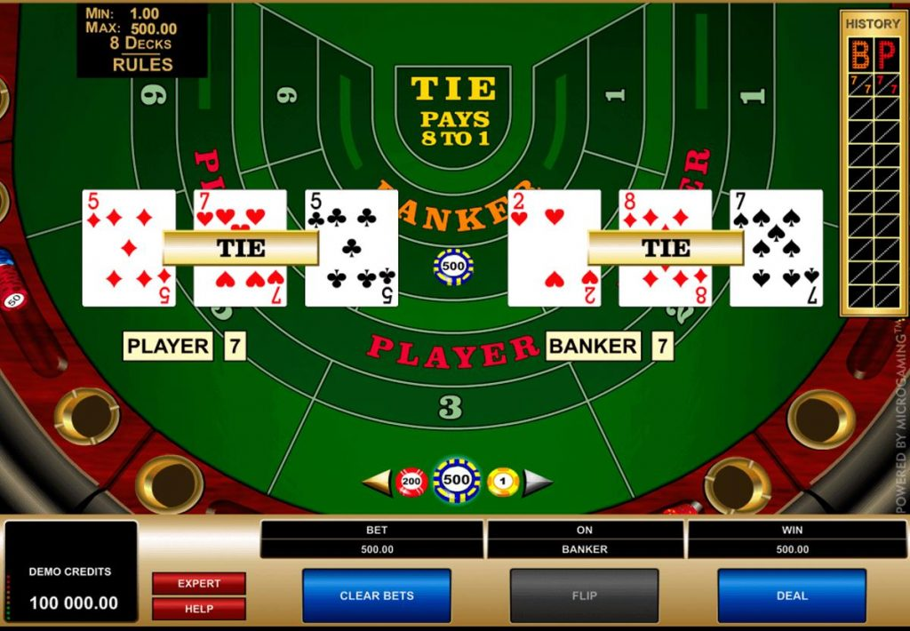 Description: high-limit-baccarat-microgaming